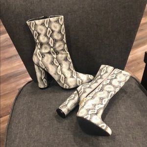 Fashion Nova Shoes - Fashion Nova Faux Snake Skin Boots